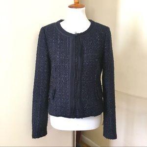 Rebecca Talylor Tweed Boucle Fringe Jacket 10